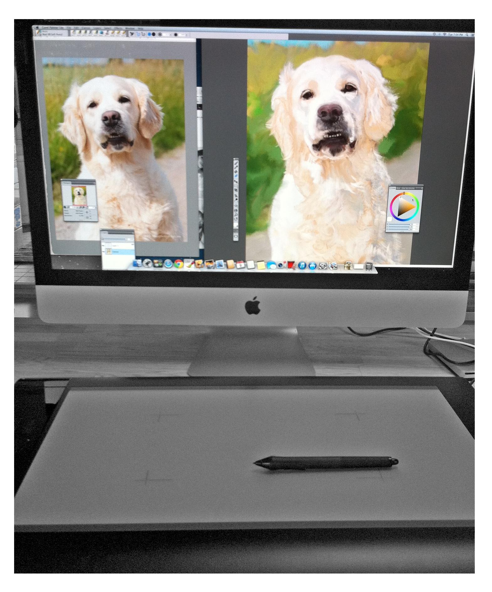 rita på datorn